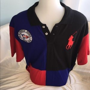 Polo by Ralph Lauren Shirts - Men's Red, Black and blue  button collar Polo